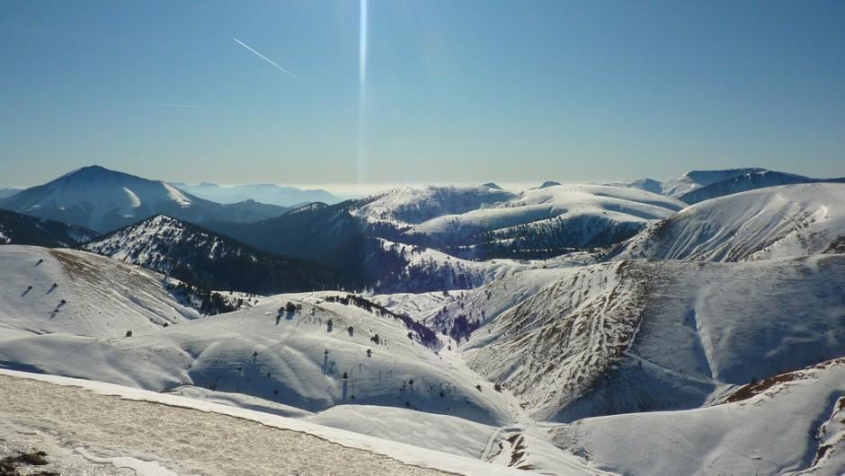 La vallée de la Blanche en hiver